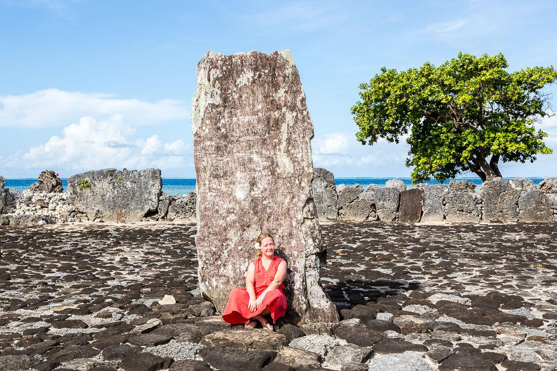 Трон туруи. Мараэ Хаувири или Таура'а-а-тапу. Turu'i at Marae Hauviri or Marae Taura'a-a-tapu. Тапутапуатеа, Раиатеа, Подветренные острова архипелага Общества, Французская Полинезия. Raiatea, Leeward Islands, French Polynesia.
