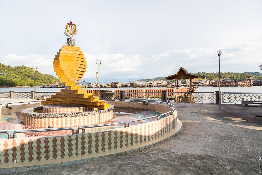 Набережная реки Бруней. Бандар-Сери-Бегаван, Бруней-Даруссалам. Brunei river. Bandar Seri Begawan, Brunei Darussalam