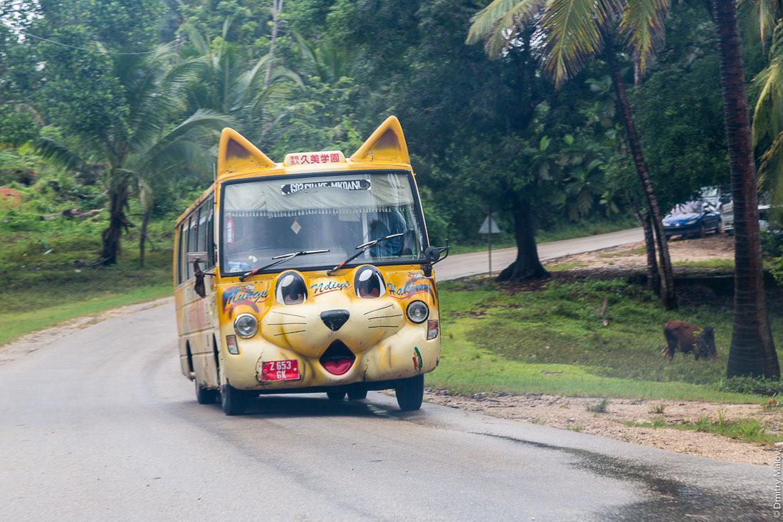 Котобус на сельской дороге, остров Пемба, Занзибар, Танзания. Catbus, Ali Mohamed Shane, Pemba island, Zanzibar, Tanzania