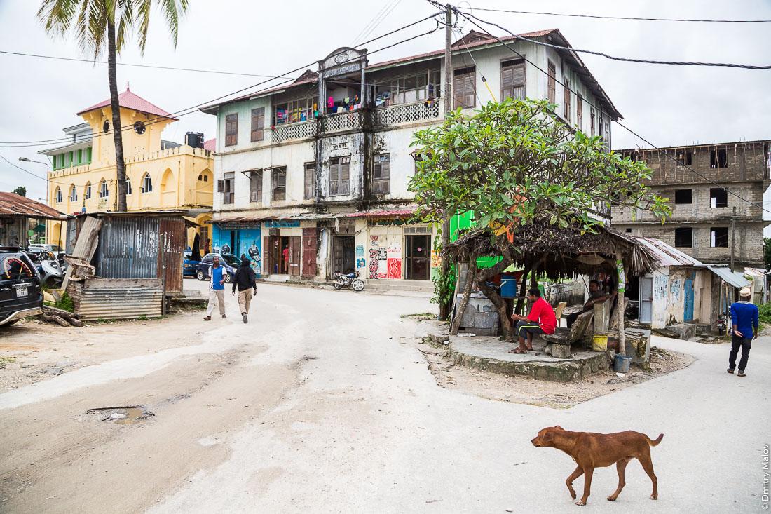 Центр, город Чаки-Чаки, остров Пемба, Занзибар, Танзания. Town centre, Chake-Chake town, Pemba island, Zanzibar, Tanzania.
