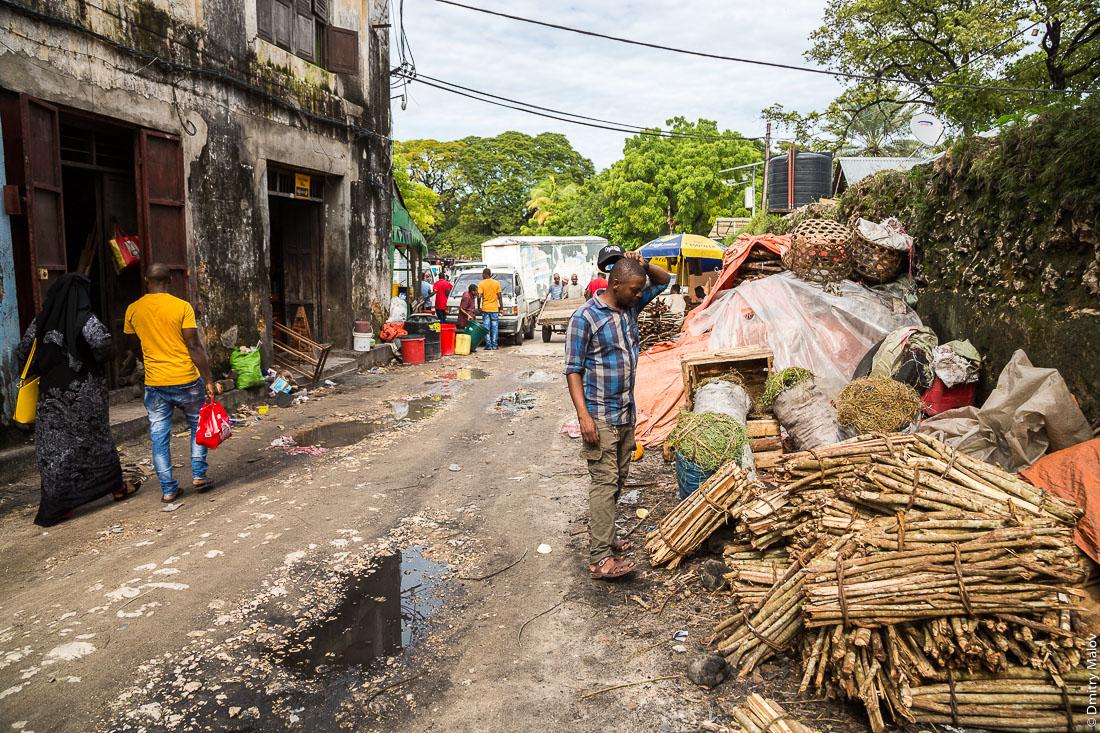 Продажа дров. Каменный город, Занзибар-сити, остров Унгуджа, Танзания. Firewood sale. Stone Town, Zanzibar City, Unguja island, Tanzania