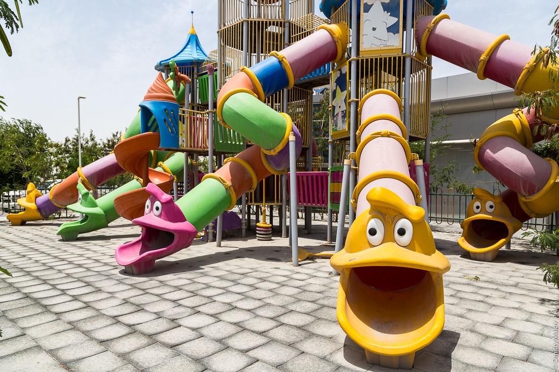 Kids playground near Doha, Qatar. Детская игровая площадка около Дохи, Катар