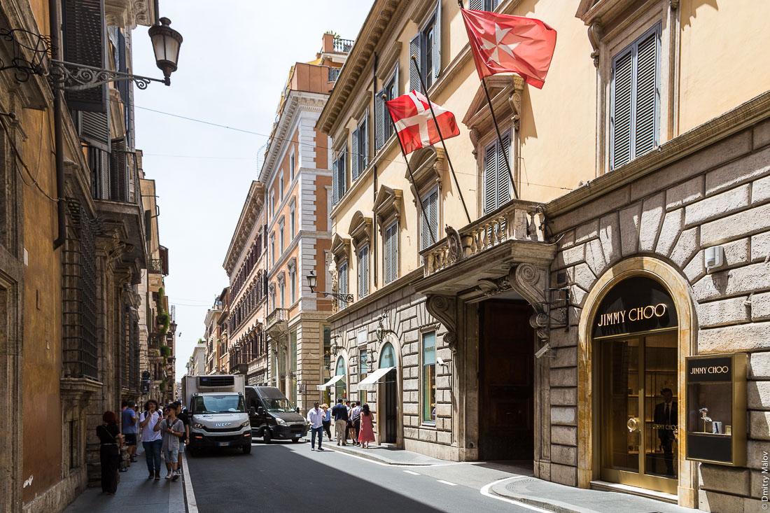 Мальтийский дворец, виа Кондотти, 68, Рим, Италия. Palazzo Magistrale, Palazzo di Malta, Via dei Condotti 68, Rome, Italy
