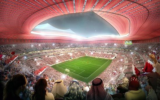 Стадион Аль-Байт для Чемпионата мира по футболу 2022 года около города Аль-Хор (Эль-Хаур), Катар. Al Bayt Stadium for 2022 FIFA World football Cup near Al Khor town, Qatar