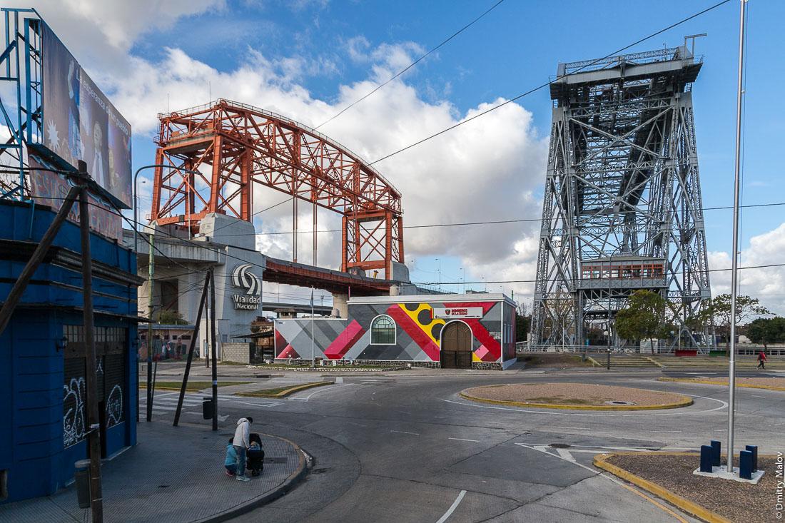 Buenos Aires Transporter Bridge, Antiguo Puente Transbordador Nicolás Avellaneda de La Boca. Летающий паром, Ла-Бока, Буэнос-Айрес, Аргентина.