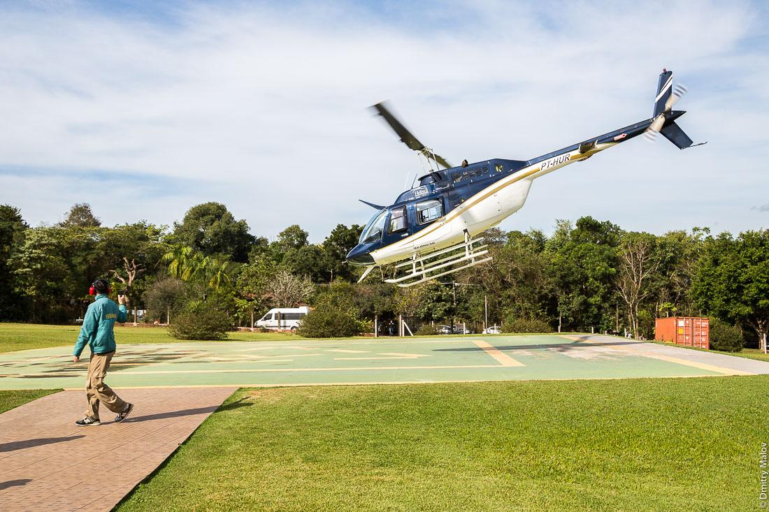 PT-HUR, Bell 206B JetRanger III, Foz do Iguacu Helisul IV Heliport - SSHS, Helicopter flight over Parque Nacional Iguassu, Foz do Iguaçu, Brazil. Полёт на вертолёте над национальным парком Игуасу, Фос-ду-Игуасу, Бразилия