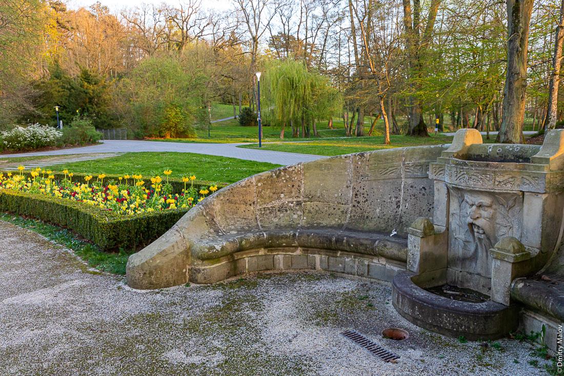 Парк в курортном городе Мондорф-лес-Бен, Люксембург. Park in Mondorf-les-Bains, Luxembourg