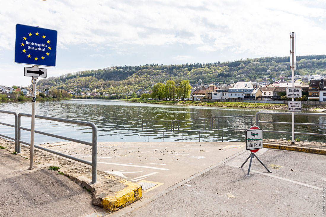 Car ferry on the Upper Moselle between Oberbillig (Germany) and Wasserbillig (Luxembourg) is cancelled due to COVID-19 pandemic