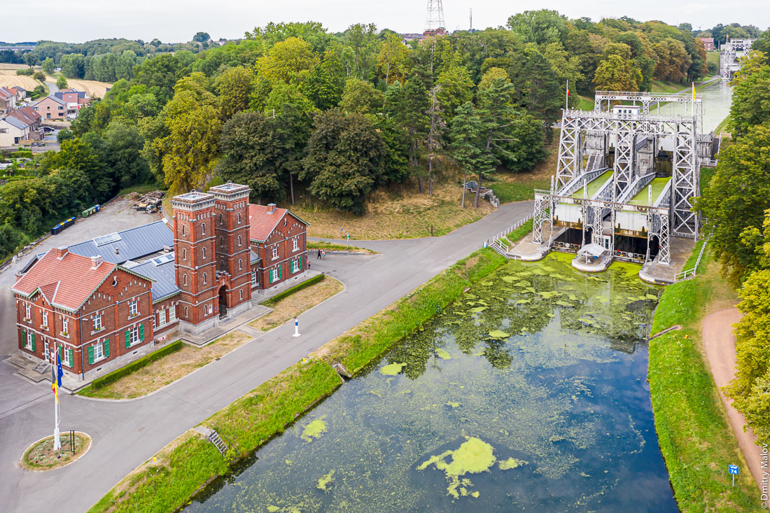 Boat Lifts #2 & #3 of the Canal du Centre, La Louvière, Belgium. Судоподъёмники №2 и №23 Центрального канала в Бельгии. World Heritage Site of UNESCO.