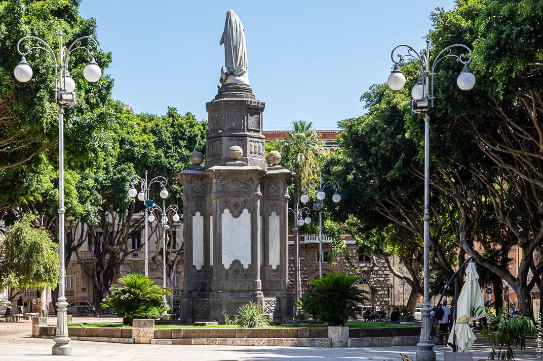 Piazza del Carmine, Cagliari, Sardinia, Italy