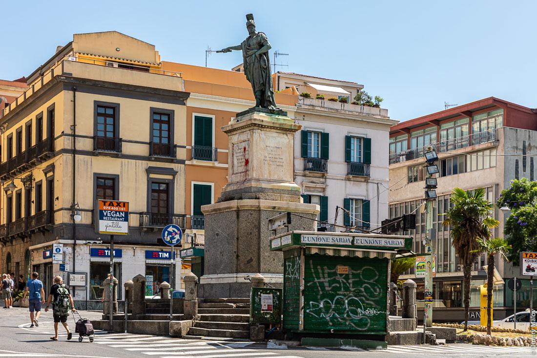 Monumento a Carlo Felice, Largo Carlo Felice, Cagliari, Sardinia, Italy