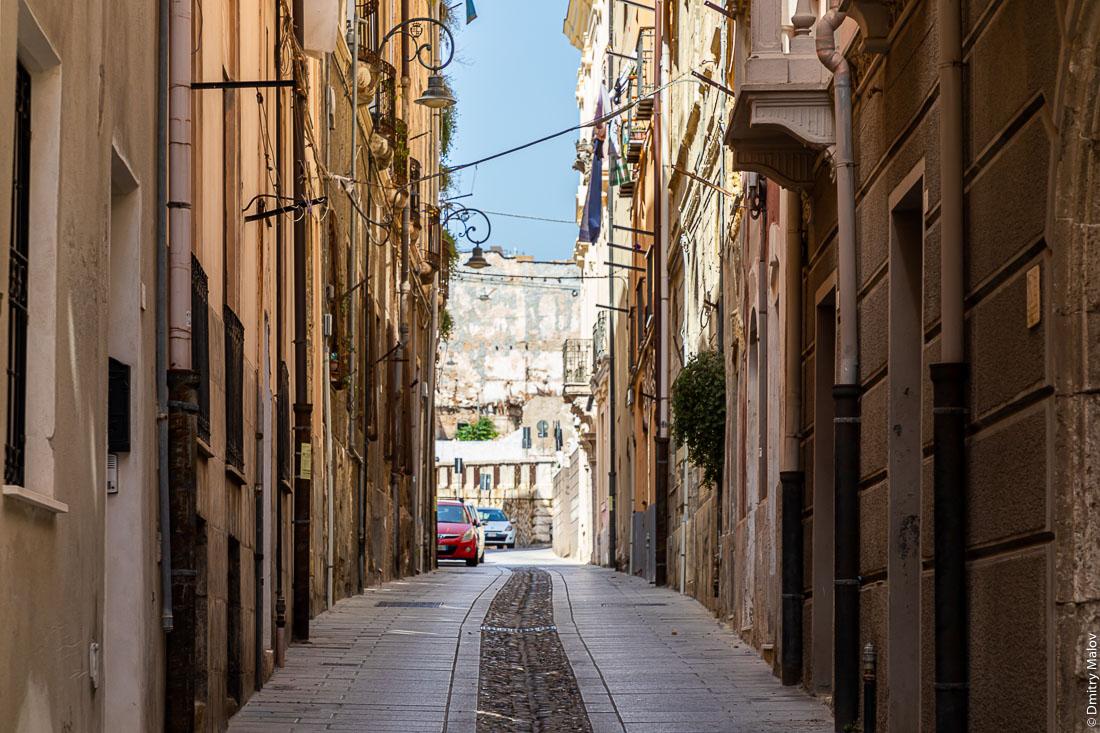 Vico I' Alberto Lamarmora, Cagliari, Sardinia, Italy
