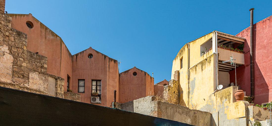 Вид крыш Кальяри, Сардиния