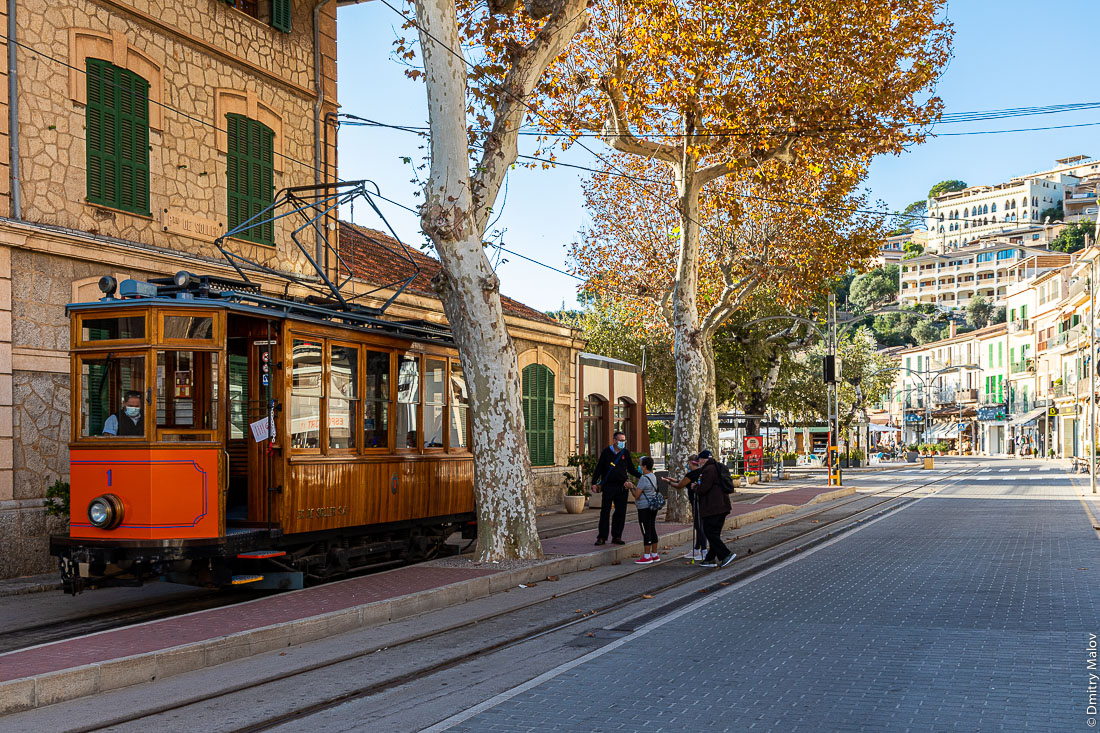 Трамвай Сольер - Порт-де-Сольер. Майорка, Испания.