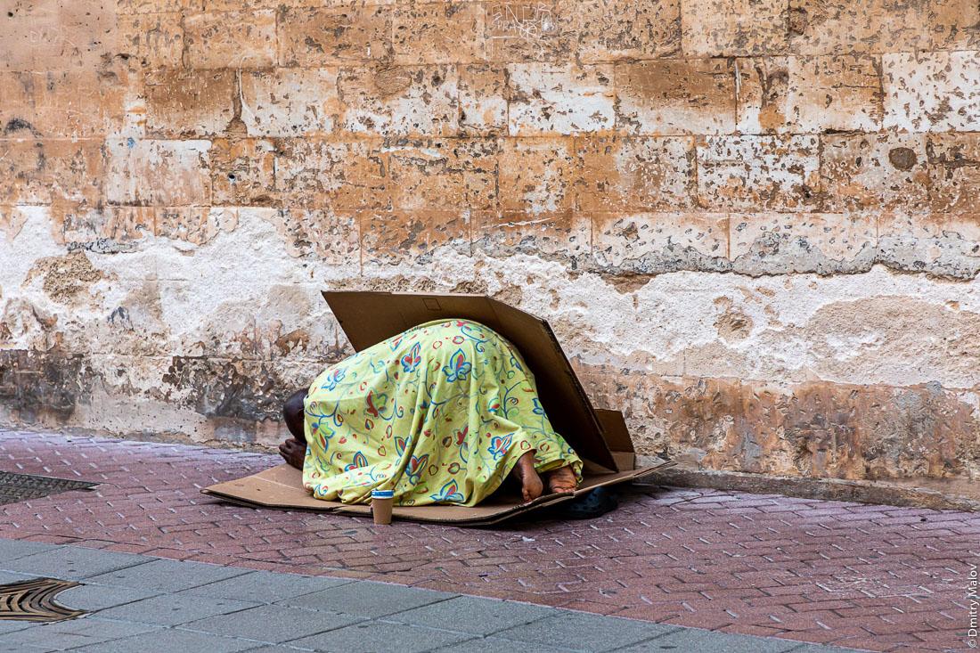 Намаз на улице. Пальма-де-Мальорка