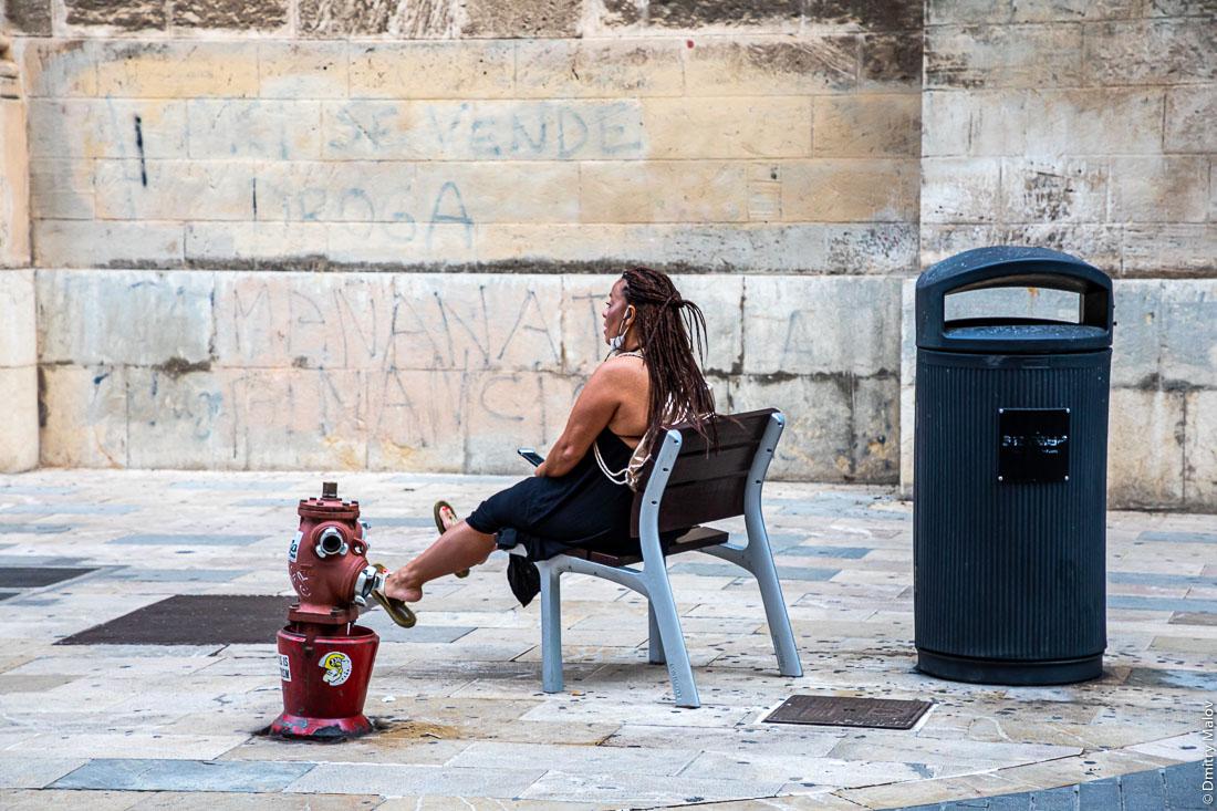 Жители, городская жизнь, улицы. Пальма-де-Мальорка.