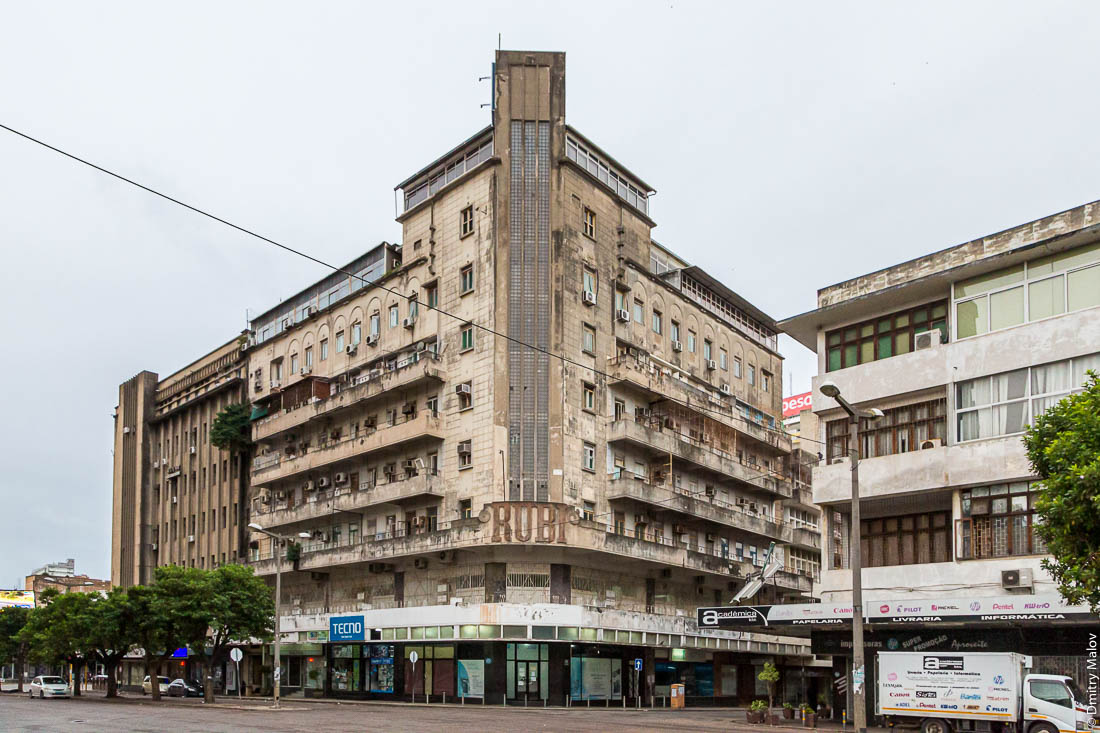 Ар-деко. Дом Руби, Мапуту, Мозамбик, Африка. Maputo (Mozambique): Once the tallest building in Maputo, Casa Rubi still stands out for its architecture. Art-decio.