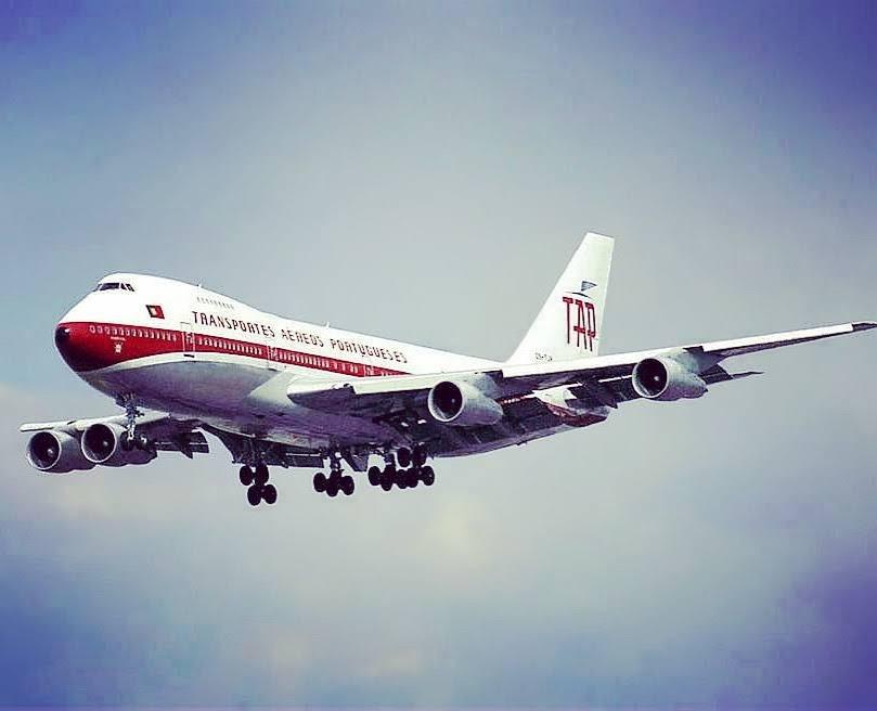 Um Boeing 747 da TAP. Começou a escalar Lourenço Marques em 1972